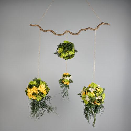 Mobile 4 sphères végétal stabilisé Dvs green Gallery