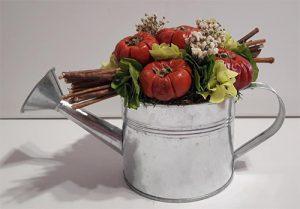 composition vegetal stabilisee citrouille et arrosoir végétal stabilise dvs green gallery