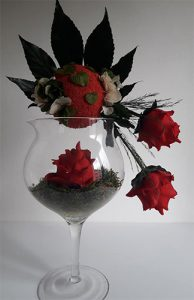 composition vegetale stabilisee avec roses dvs green gallery