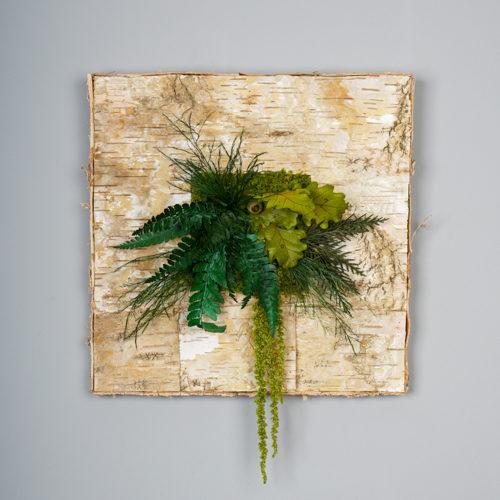 cadre plat écorce de bouleau végétal stabilisé dvs green gallery