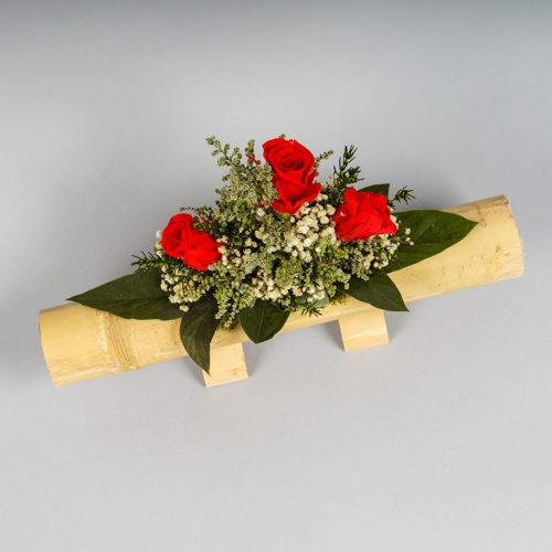 composition en végétal stabilisé roses rougesdvs green gallery