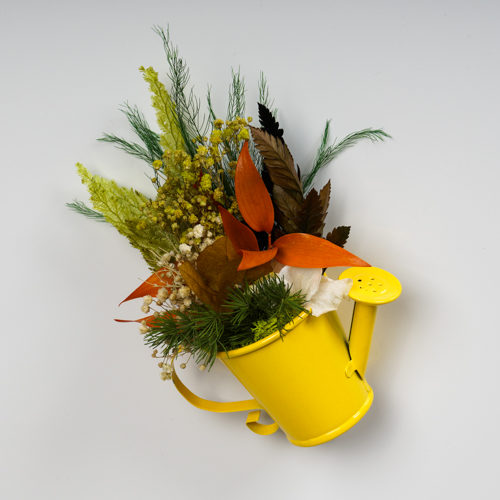 Magnet arrosoir zinc jaune végétal stabilisé dvs green gallery