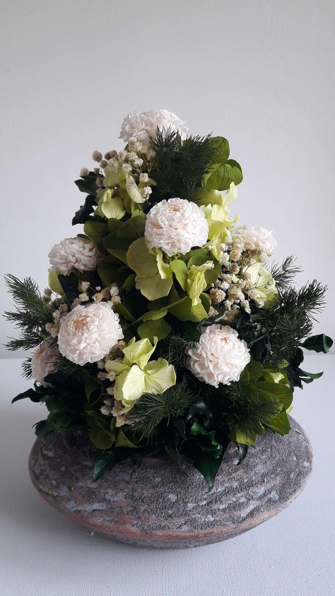 composition dahlias et hortensia